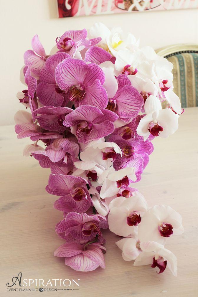 buchet curgator ( cascade bouquet ) orhidee phalaenopsis Aspiration Events