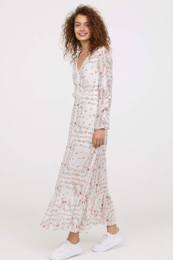 långa klänningar hm