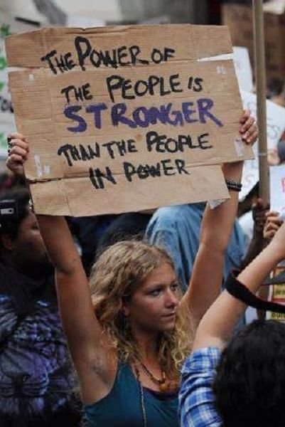 The Power of the People.. is STRONGER than the People in Power.
