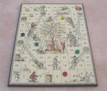 French Board game: the scale - Snakes and Ladders