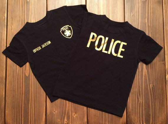 Police shirt personalized police shirt police by JenningsGraphics