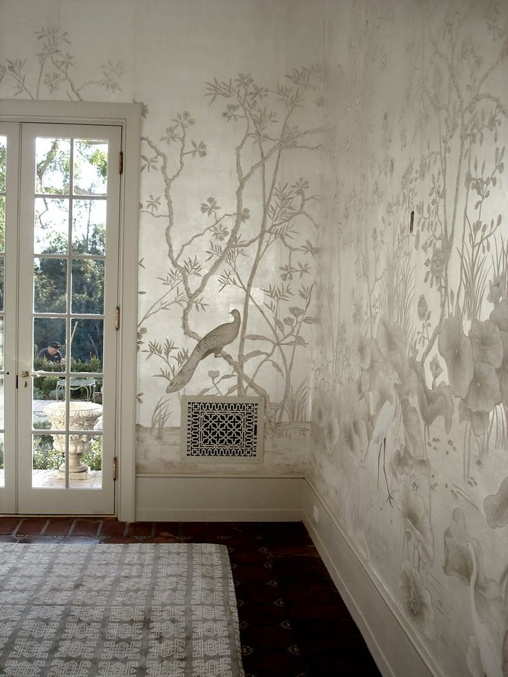 This silver leaf on silk project was created for the Santa Barbara historic…