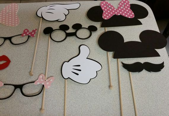 Mickey and Minnie Mouse Photo Booth Props by Cre8iveDesignss