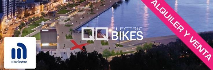Posicionamiento SEO y SMM para QQ BIKES. Alquiler y venta de bicicletas eléctricas. Puedes comprar tu bicicleta eléctrica desde 800 euros en el centro comercial Muelle Uno, Puerto de Málaga.  #bicicleta #malaga