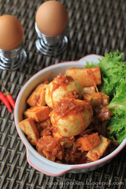 Sambal telur tauhu (Egg sambal with fried tofu) (Raya special) @Helen Palmer Palmer Palmer Palmer Palmer Davidson Sumo