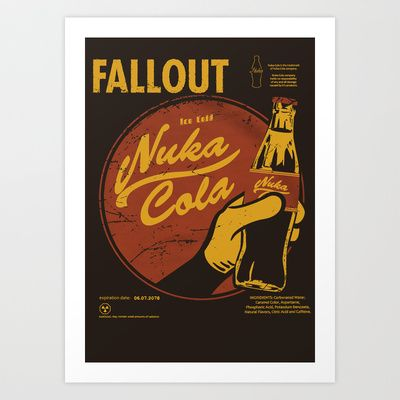 Nuka Cola By Fallout  Art Print by Sgrunfo - $14.60