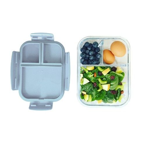 bb05885a44ff Bentgo Glass Leakproof Lunch Box - Grey in 2019 | Packing food ...
