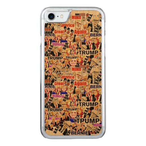 Trump.Hillary.Sanders.Obama. President of the U.S. Carved iPhone 7 Case