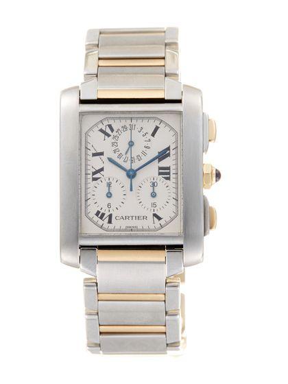 Cartier | Two-Tone Tank Francaise Chronoflex Watch, 28mm