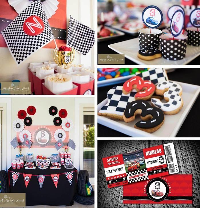Disney Cars Party with SO MANY Ideas via Kara's Party Ideas   Kara'sPartyIdeas.com #Disney #RaceCar #Party #Idea #mybestwishes (1)