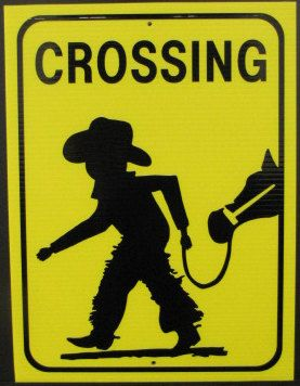 Coroplast Cowboy/Cowgirl Crossing Small Sign