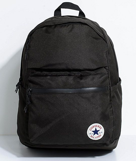 cd2b0c915 Converse Chuck Poly 1.0 Black Backpack in 2019 | BACKPACK | Black ...