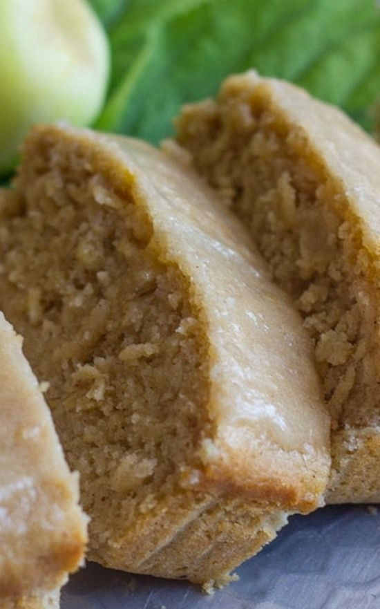 Glazed Apple Cinnamon Oatmeal Bread   Soft and moist, and bursting with apple flavor. No mixer required!