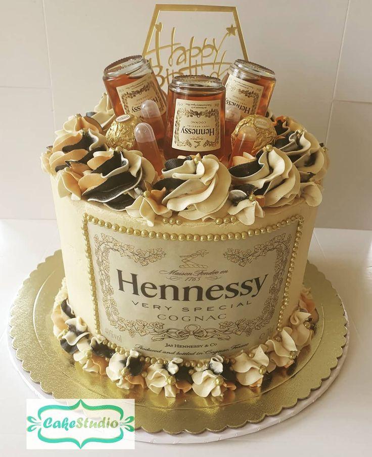 "Cake Studio on Instagram ""Bottom's up with Hennessy"