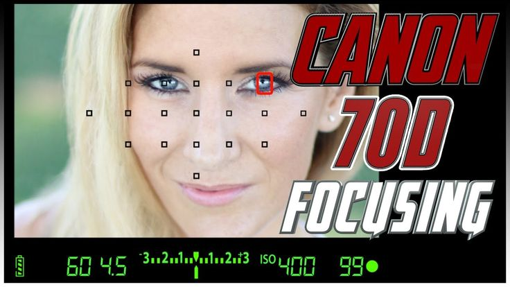Canon 70D Focusing Squares Tutorial | How to focus with the Canon 70D Tr...