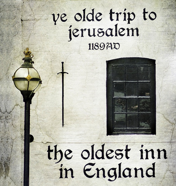 The Trip, Nottingham. Reputedly the oldest pub in England. Ye Olde Trip to Jerusalem Brewhouse Yard Nottingham England NG1 6AD