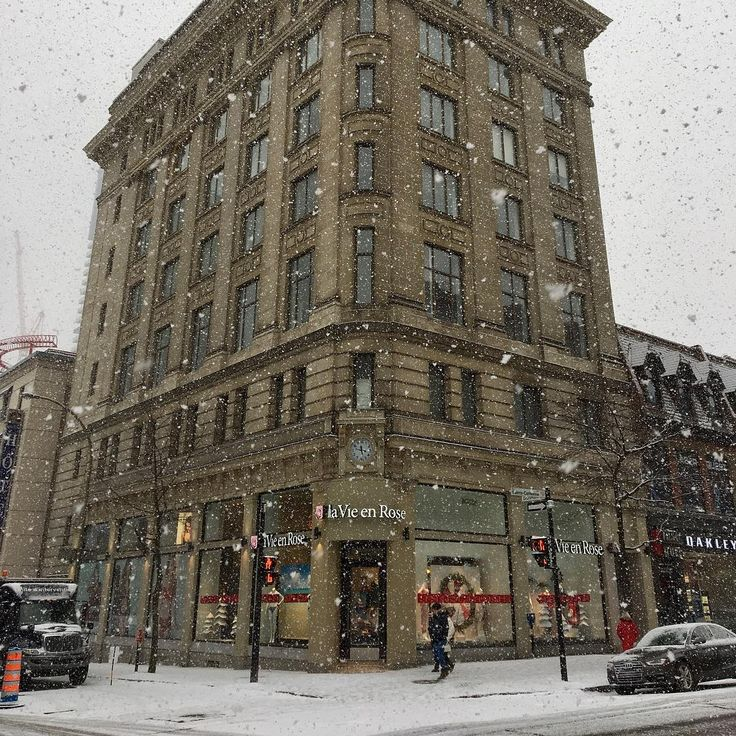 #montreal #downtown #winter #snow