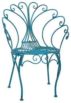 Lillian Garden Chair - Traditional - Outdoor Lounge Chairs - by Fratantoni Lifestyles