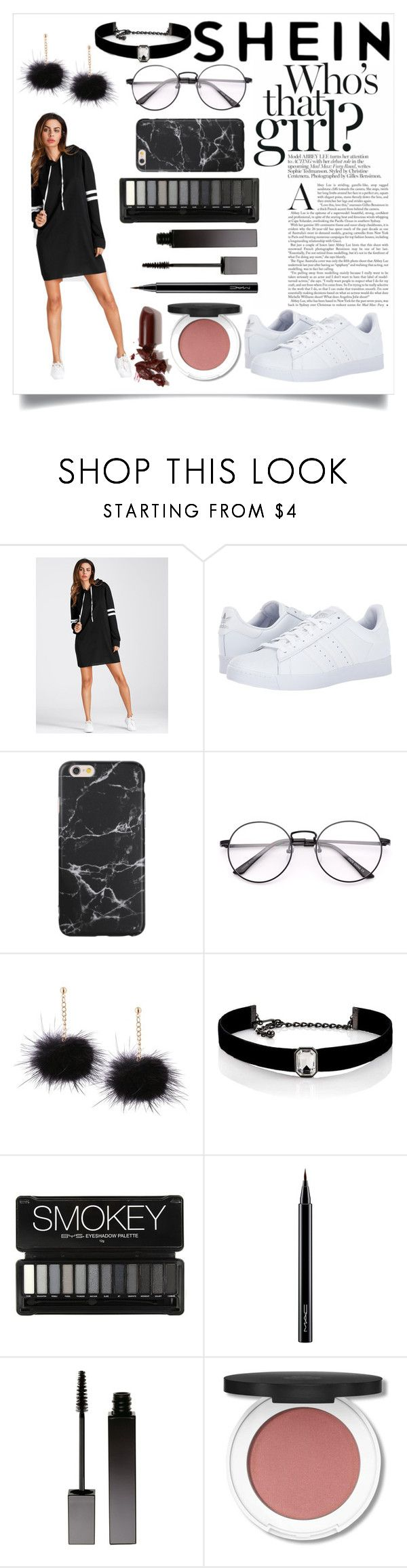 """""""Shein"""" by kitty-cat130 ❤ liked on Polyvore featuring adidas, Kenneth Jay Lane, MAC Cosmetics, Serge Lutens, LAQA & Co. and vintage"""