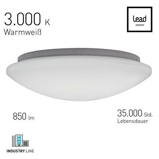 LED Deckenleuchte Basic Light Rund Ø 30cm Warmweiß   LED Wandleuchte 11  Watt   3000 Kelvin