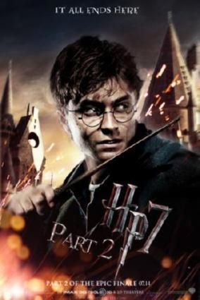 Harry Potter Deathly Hallows 2 Movie poster Metal Sign Wall Art 8in x 12in