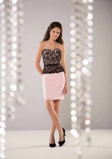 Cheap and Australia Sheath Sweetheart Neckline Lace&Chiffon Mini Length Bridesmaid Dresses from Dresses4Australia.com.au