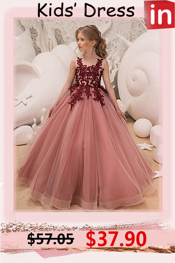 Kids Girls' Party / Holiday Dress   Girls pageant dresses, Pink maxi dress, Girls  dresses online