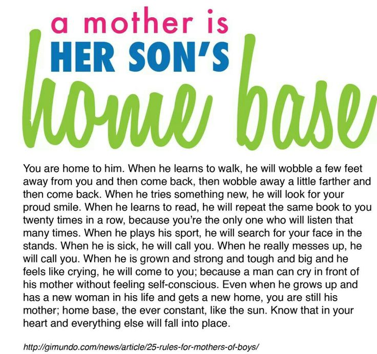 Mom And Son Quotes Pictures: A Mother Is Her Son's Home Base