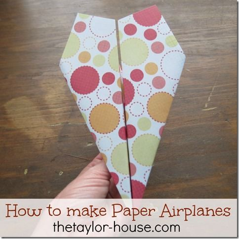 Summer Activities for Kids Series: Paper Airplanes