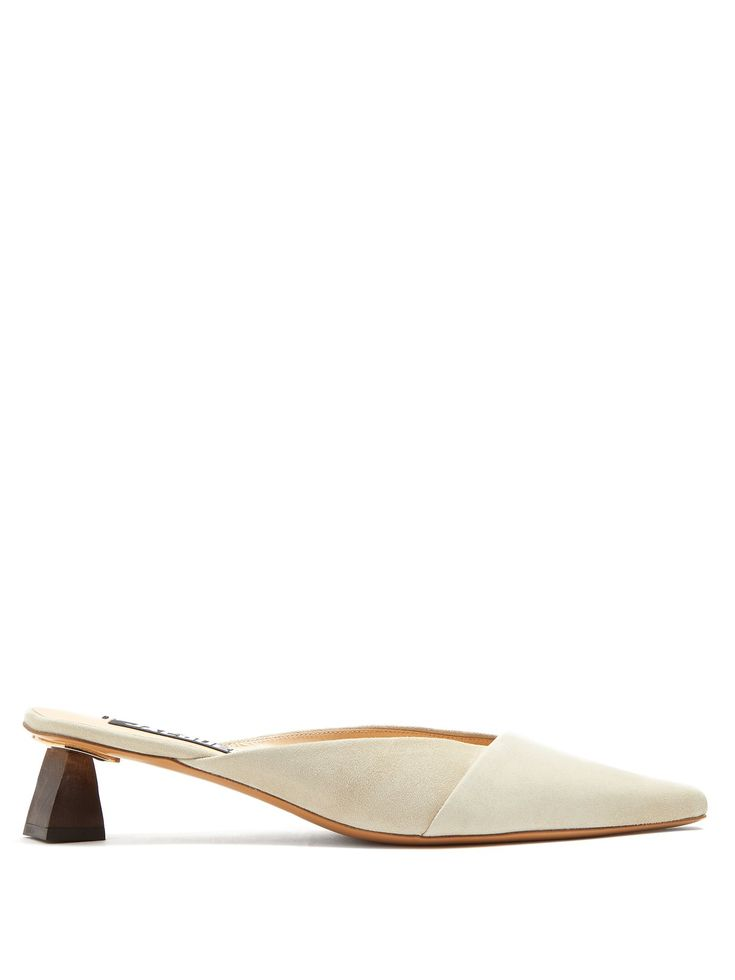 Click here to buy Jacquemus Ornamental-heel suede mules at MATCHESFASHION.COM