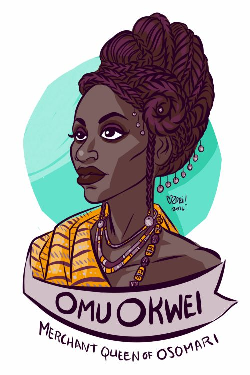 "#100Days100Women Day 94: Omu Okwei Born Felicia Ifeoma Ekejiuba, Omu Okwei was the most powerful and well-respected merchant in Nigeria during English colonization. She was voted Omu ""Queen"" in a dual sex (but not related) system where she took care..."