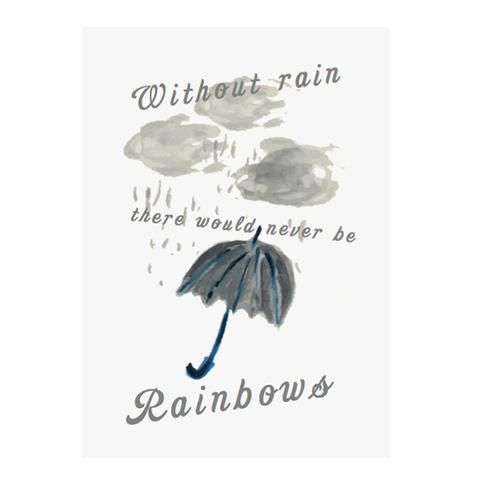 Rainbow greeting card by NUNUCO® #nunucodesign