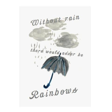 Rainbow greeting card by NUNUCO® #nunucodesign