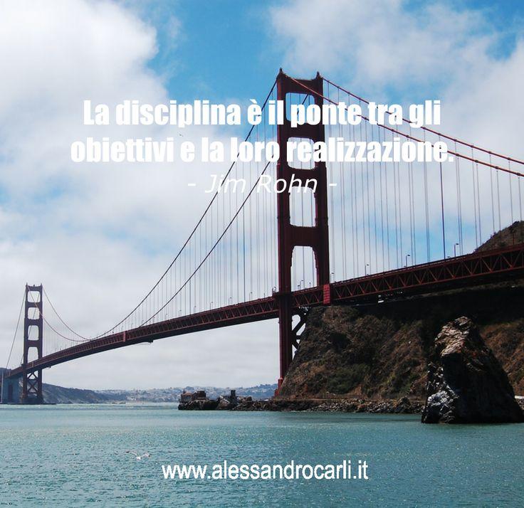 Disciplina, questa sconosciuta... eppure la chiave di ogni successo! Condividi...