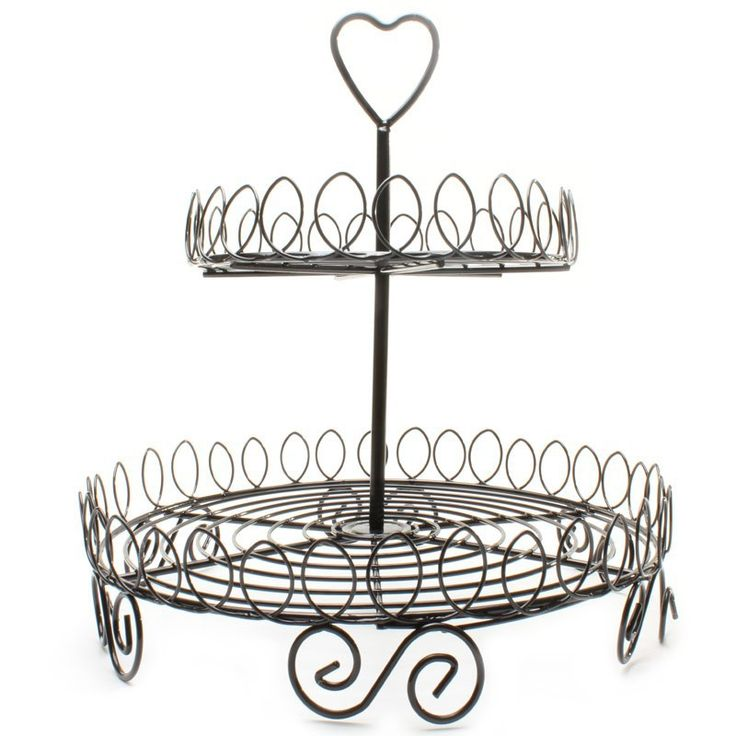 Black cupcake stand with 2 tiers to hold much cupcake $20.00