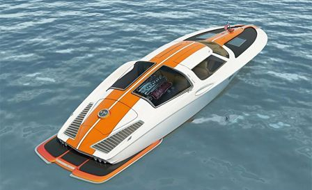 Split Window inspired Corvette Speed Boat
