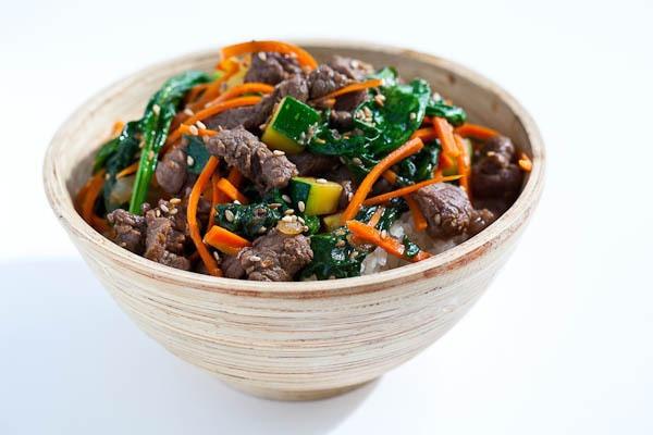 Korean Beef Rice Bowl by Steamy Kitchen