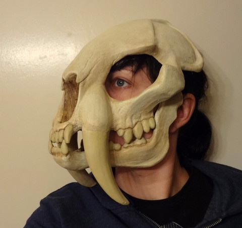 SABERTOOTH SKULL MASK, by: missmonster