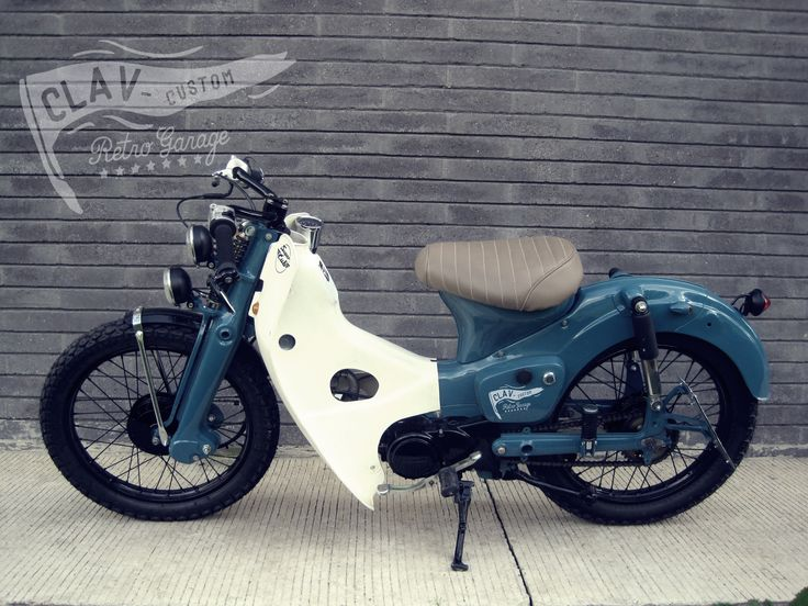CLAV-CUSTOM Retro Garage Proyecto Honda C70 KRUPP