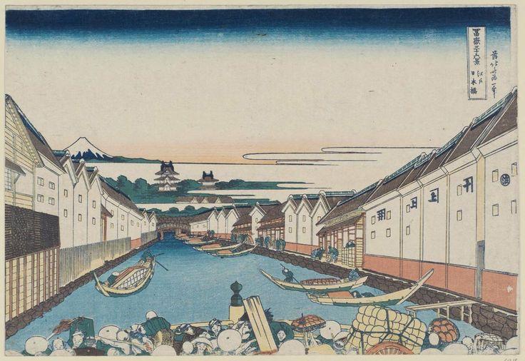 Lindsay   Drawing Japan with the Old Man Mad About Drawing   Katsushika Hokusai, Thirty-six Views of Mount Fuji: The Nihonbashi in Edo, c. 1830—1834