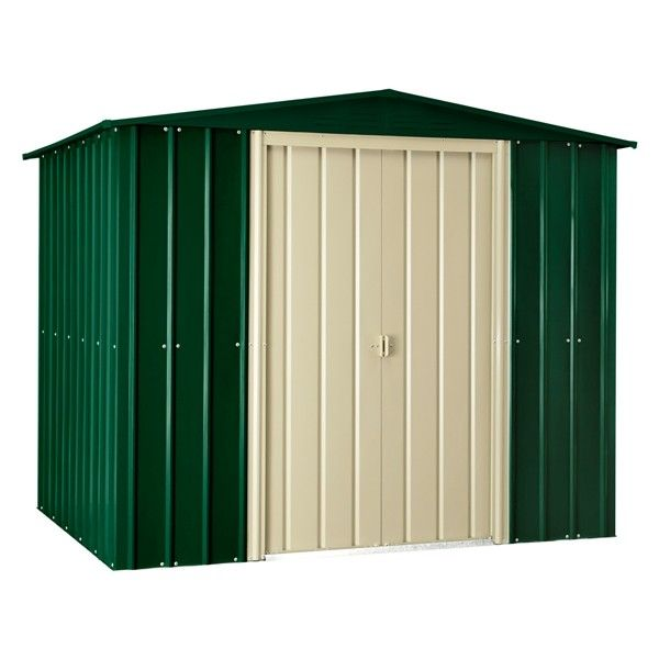 the store more lotus 8 foot wide premium garden shed is an apex roof shed manufactured from high tensile hot dipped galvanised steel throughout - Garden Sheds 3ft Wide