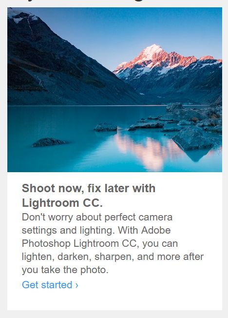 ADOBE: SHOOT CRAPPY PHOTOS, FIX THEM IN POST LATER #photography #lightroom http://www.diyphotography.net/adobe-shoot-crappy-photos-fix-post-later/