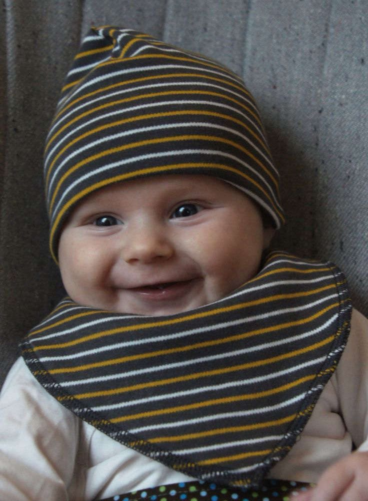 Baby Beanie - Striped - Organic Cotton by ByLelou on Etsy