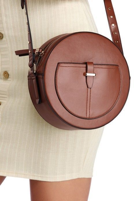 Chic Circle Faux Leather Bag