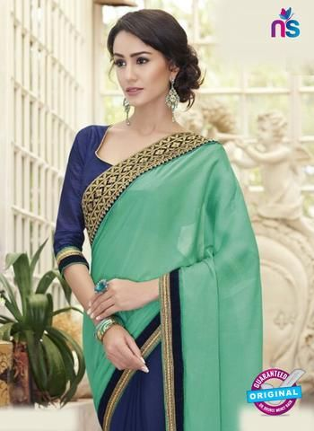 AZ 5130 Blue Georgette Party Wear Saree