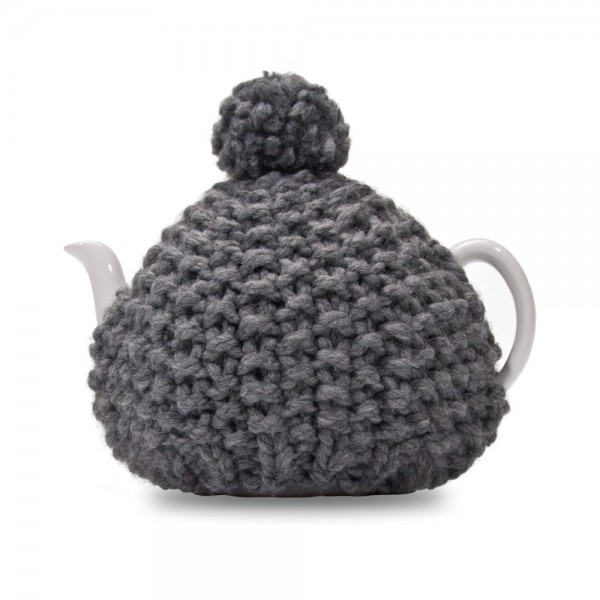 Knitted Tea Cosy Charcoal