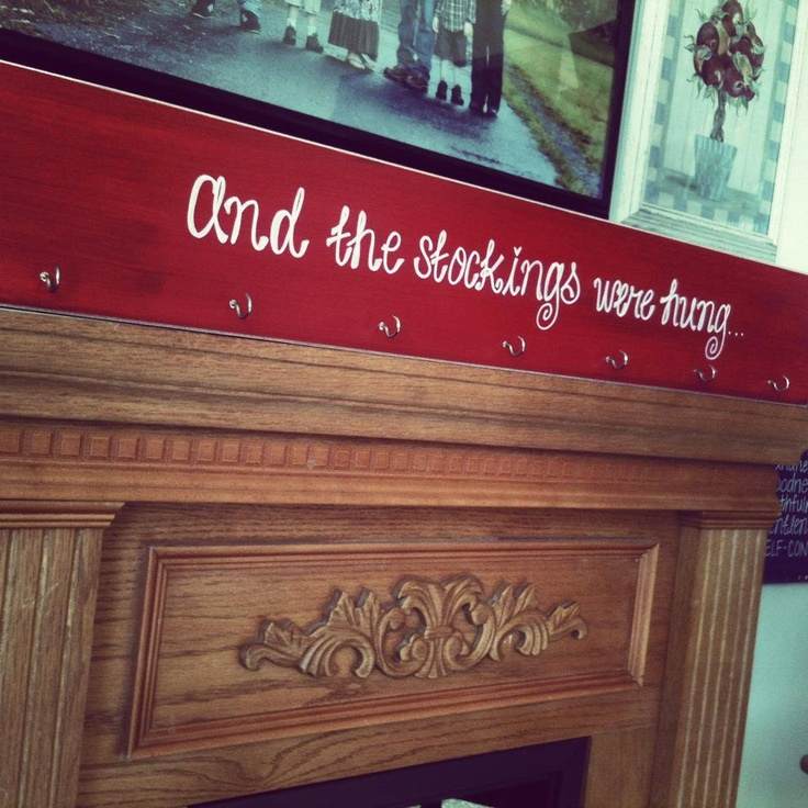 Hand painted Stocking Holder Hanger for Christmas - I think I can make this one!