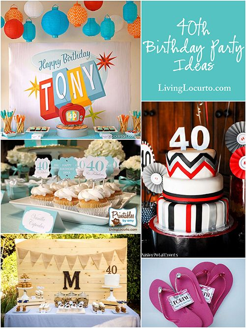 10 Amazing 40th Birthday Party Ideas! LivingLocurto.com: 10 Amazing, Amazing 40Th, 40Th Bday, Birthday Parties Ideas, 40Th Birthday Parties, Birthday Party Ideas, 40Th Parties, Karaoke 40Th Birthday, Birthday Ideas