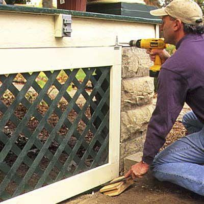 Installing porch lattice tutorial. So gotta do this.  So gotta know how!
