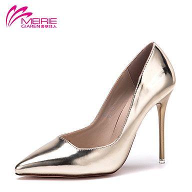 Scarpe Donna - Scarpe col tacco - Casual - Tacchi / A punta / Chiusa - A stiletto - Vernice - Grigio / Dorato del 2015 a €28.49